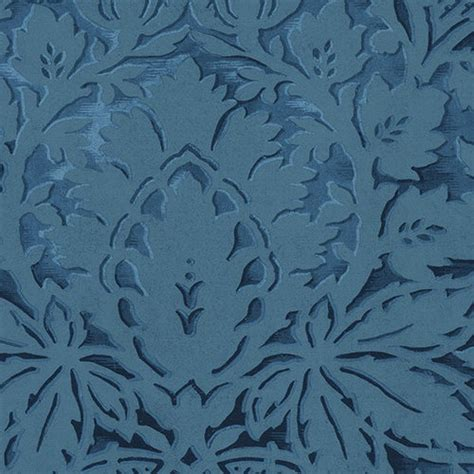 blue vinyl wallpaper bold and dramatic damask in blue wallpaper blue