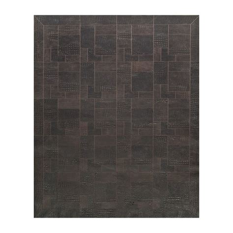 Leather Patchwork Rug - patchwork leather rug k1677