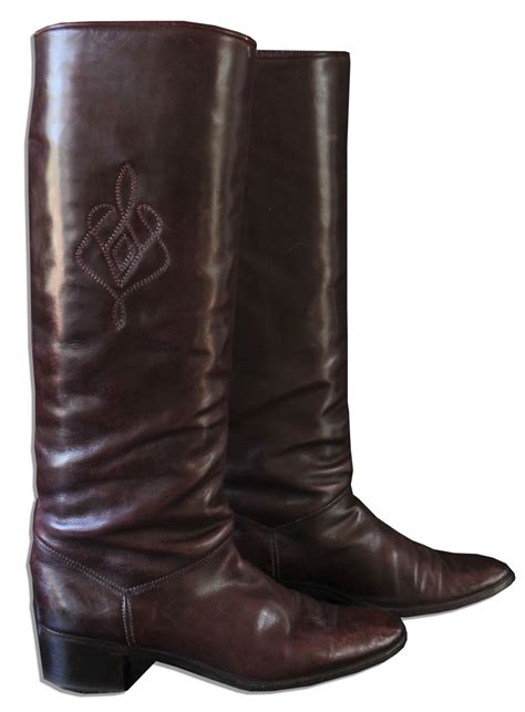 signor boots lot detail italian leather boots personally owned by