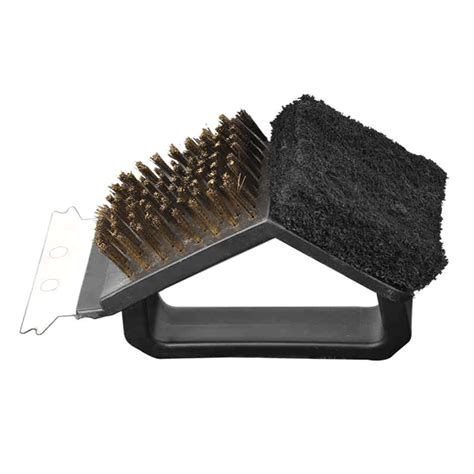Overall Set 3in1 Spandek 3 in 1 bbq barbecue grill cleaning brush steel wire sponge shovel set oe ebay