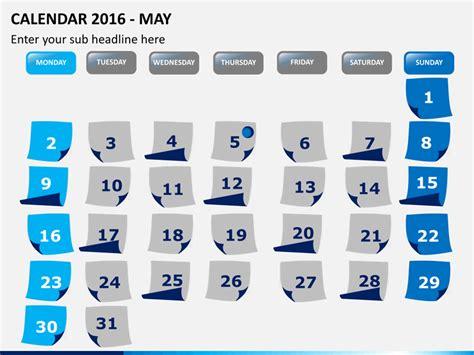 Calendar Slides Powerpoint Calendar 2016 Sketchbubble