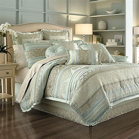 j queen new york bedding j queen new york marcello comforter set in ivory bed
