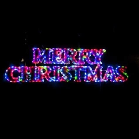 buy led tinsel merry christmas rope light display