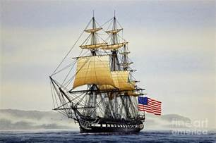 Sales On Home Decor uss constitution painting by james williamson