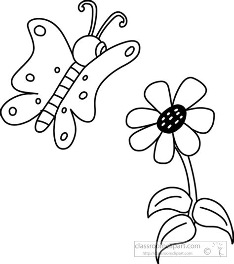 Outline Of Flowers And Butterflies by Clipart Flowers And Butterflies Black And White Clipartfest Flowers And Butterflies Clipart