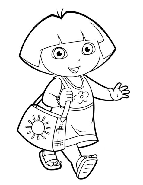 simple dora coloring pages dora colouring sheets pdf printable dora and friends