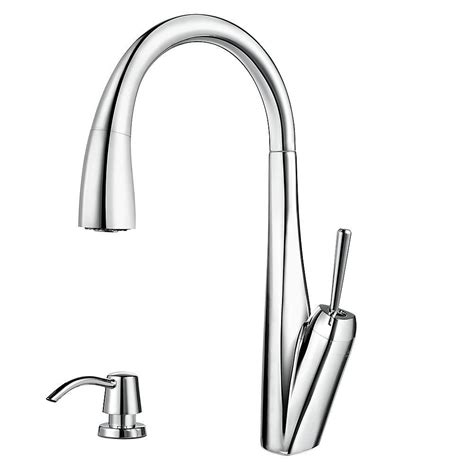 pfister hanover single handle pull down sprayer kitchen faucet in stainless steel gt529tms the pfister zuri single handle pull down sprayer kitchen