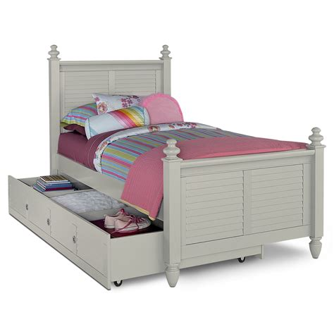 twin trundle beds seaside twin bed with trundle gray value city furniture