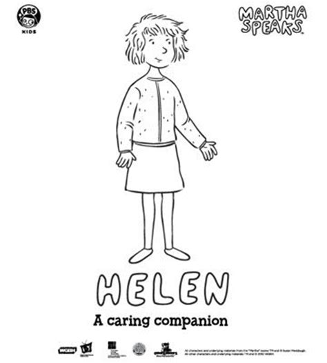Martha Speaks Coloring Book Pages From Pbs Martha Speaks Coloring Pages