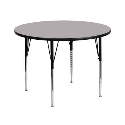 42 inch school activity table grey laminate top with