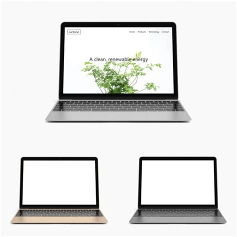 Laptop Psd Template realistic laptop mock up psd file free