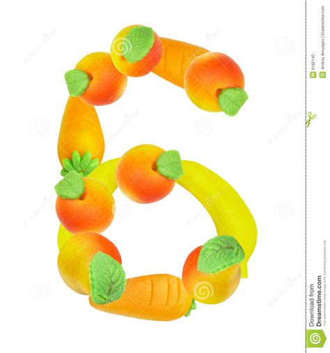 6 fruits in alphabet from fruit the number 6 stock photo image 6182140