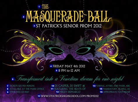 masquerade poster template masquerade flyer ticketprinting