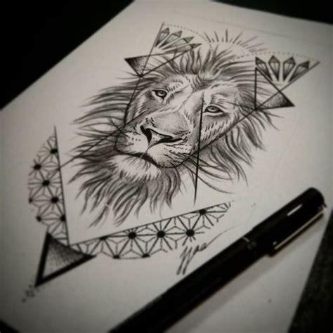 lion pattern tumblr dotwork lion geometric google search tattoo