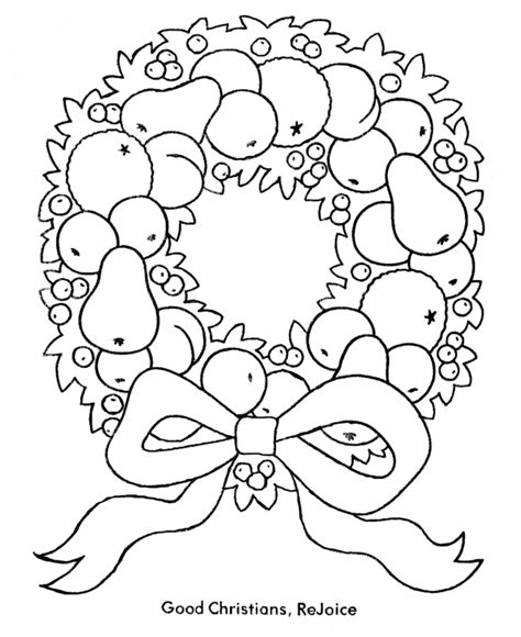 christmas wreath coloring page coloring home