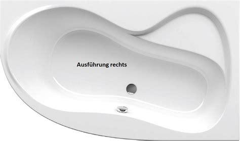 badewanne asymetrisch asymmetrische badewanne sch 252 rze 160 x 95 x 43 cm badewanne