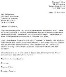 Hospital Receptionist Cover Letter by Cover Letter Exles Cover Letter Now