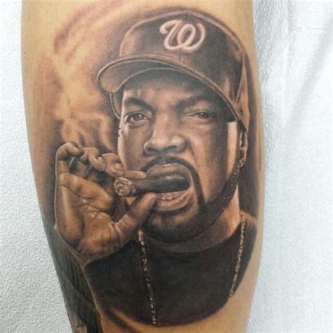 tupac tattoos cube portrait gangster nwa my tattoos