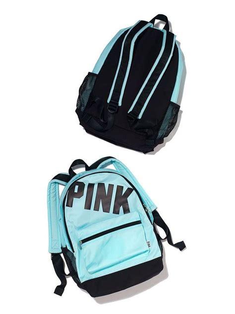 victorias secret pink teal cus backpack bookbag