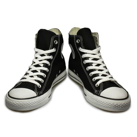 all black sneakers mens converse all hi black white trainers sneakers shoes