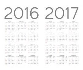 2016 And 2017 Calendar Calendar 2016 2017 Vector Free Cdrai