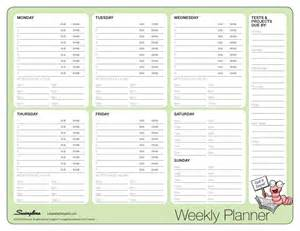 Weekly Planner Laminating Templates