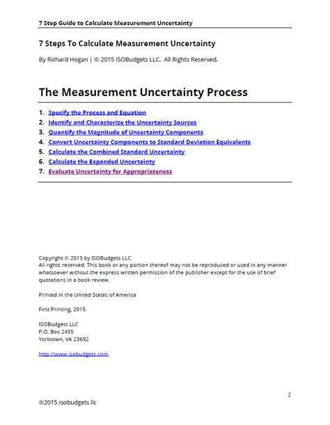 7 Steps To Finding The by 7 Steps To Calculate Measurement Uncertainty Isobudgets
