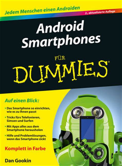 tutorial android for dummies wiley android smartphones f 252 r dummies 2 auflage dan