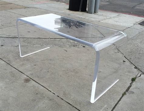 waterfall lucite coffee table lucite quot waterfall quot coffee table with bullnose edges by