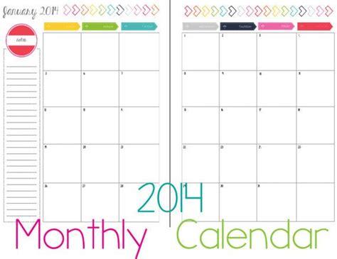 month printable calendar portrait page instant
