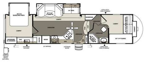 bunkhouse fifth wheel floor plans 5th wheel front bunkhouse floor plans google search rv