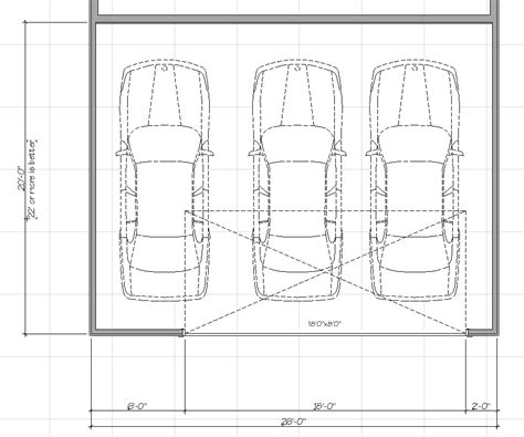 size of a 3 car garage size and layout specifics for a 3 2 car garage dimensions metric home desain 2018