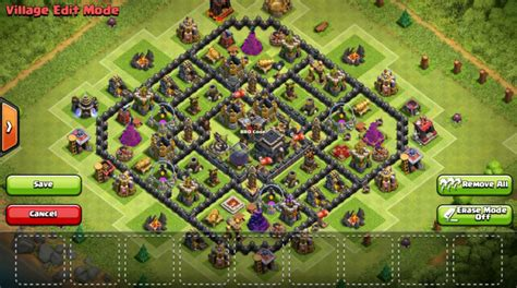 home base th 9 terbaik november 2016 base th 9 clash of clans coc farming trophy hybrid