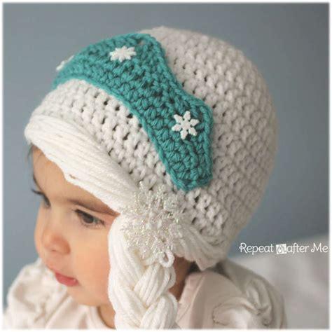 free pattern elsa crochet hat free snow queen elsa crochet hat pattern wixxl