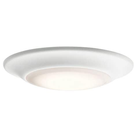 küchenle led kichler 43848whled27 white led 2700k 7 5 quot flush mount