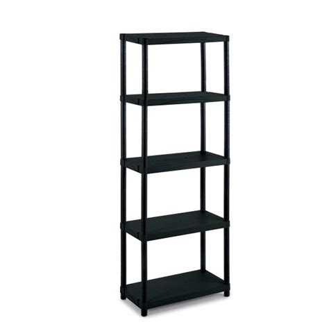 modular outdoor resin 5 shelves unit 60x30x165