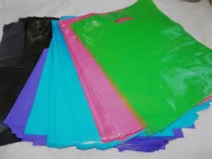 colored plastic bags 100 12x15 5 color plastic merchandise bags w die by