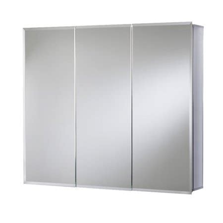 12 x 36 mirrored medicine cabinet 36 in x 30 in surface mount tri view beveled mirrored