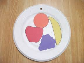 Here s a really easy fruit plate craft for the youngest students