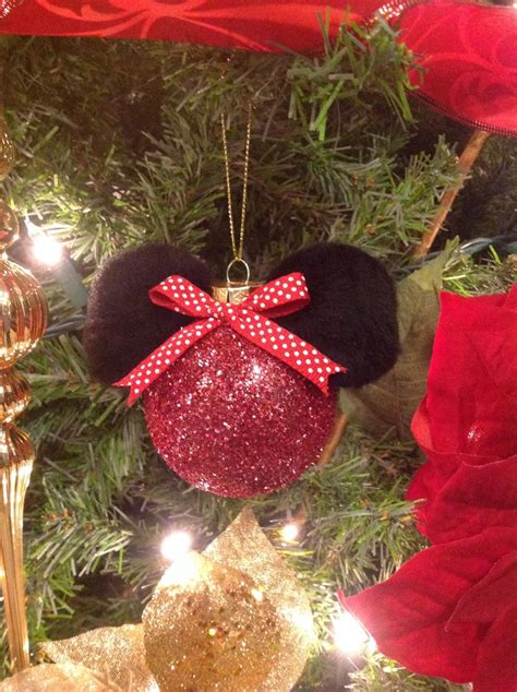 diy mickey mouse christmas decorations diy minnie mouse tree ornament decor minnie mouse