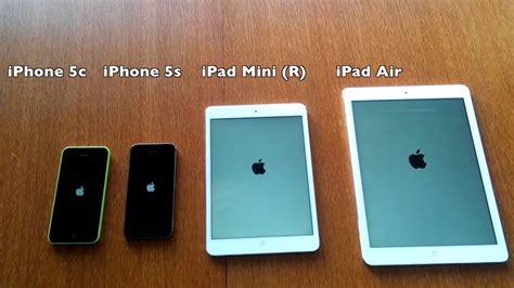 Air Vs Mini iphone 5c vs iphone 5s vs mini vs air comparison benchmark scores