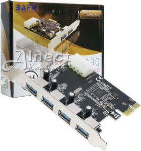 Jual Tv Tuner Pci Express jual pci express card to usb 3 0 speed 4 port bafo kartu konverter alnect komputer web