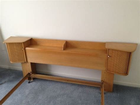 mid century modern heywood wakefield headboard 1950 s
