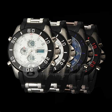 Led Sport Watches Aa W027 hpolw fs 596 s led stainless steel analog digital sport