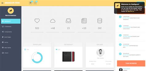 simple html admin template top 22 free responsive html5 admin dashboard templates