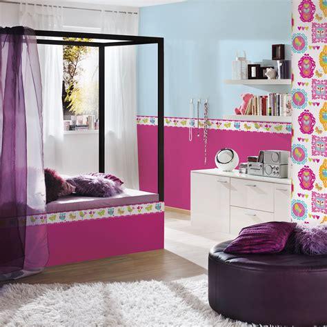 girls generic bedroom wallpaper borders butterfly flowers