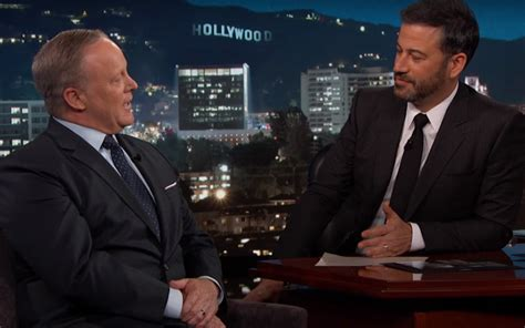 sean spicer on jimmy kimmel sean spicer pressed gently on jimmy kimmel live the