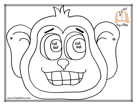 monkey mask coloring page free coloring pages of monkey mask