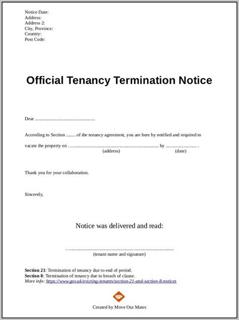 section 21 notice template section 21 eviction notice template free template