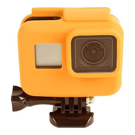 Soft Silicone Cover For Gopro 5 Diskon frame soft silicone for gopro hero5 orange
